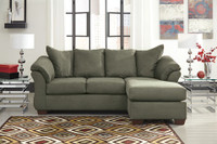 Madison Sage Microfiber Reversible Sectional