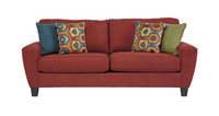 York Teal Fabric Sofa