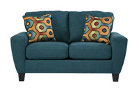 York Red Fabric Love seat