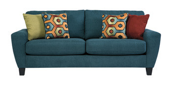 York Basil Fabric Sofa