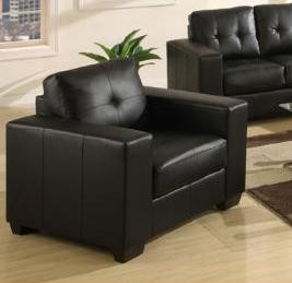 Lacey Bonded Leather Chair Black