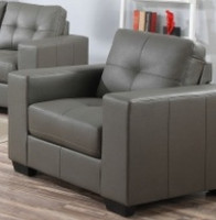 Lacey Bonded Leather Chair Grey