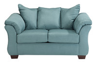 Madison Fabric Loveseat Sky