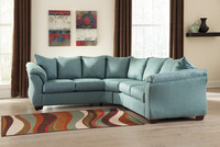 Madison Fabric Corner Sofa Sky