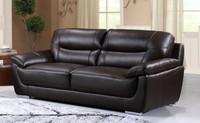 Bryce Genuine Leather Sofa Brown