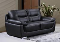 Bryce Genuine Leather Loveseat Black