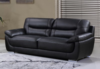 Bryce Genuine Leather Sofa Black