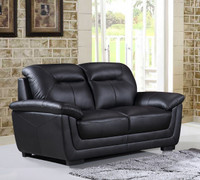 Tyson Genuine Leather Loveseat Black