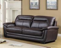 Tyson Genuine Leather Sofa Brown