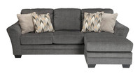 Cole Reversible Sectional Grey