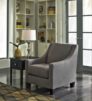 Carlos Fabric Chair Grey