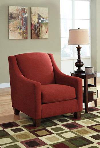 Carlos Fabric Chair Red