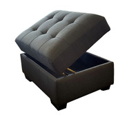 Mylo Storage Ottoman Grey Fabric