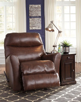 Earl Genuine Leather Rocker Recliner Brown