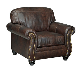 Darla Genuine Leather Chair Brown