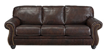 Darla Genuine Leather Sofa Brown