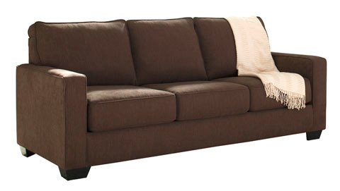 Shelby Queen Sofa Bed brown fabric
