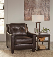 Harley Genuine Leather Chair Brown