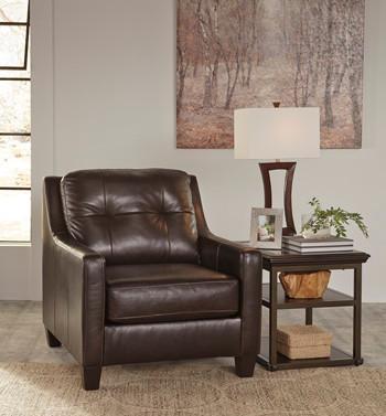 Harley Genuine Leather Chair Brown