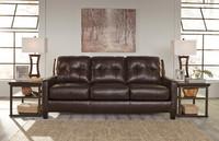 Harley Genuine Leather Sofa Brown
