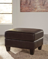Harley Genuine Leather Ottoman Brown