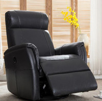 Roxy Power Recliner Charcoal Fabric
