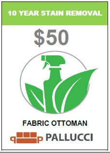 STAIN REMOVAL FABRIC OTTOMAN - 10 Years