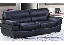 Fabric Loveseats; Leather Sofas