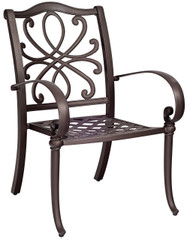 Woodard Holland Stackable Dining Arm Chair