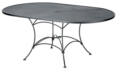 Woodard Oval Mesh Dining Table Into The Garden Outdoor - 72 oval dining table