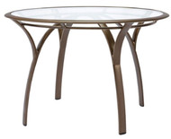 "Brown Jordan Pasadena 42"" Round Table with Glass Top"
