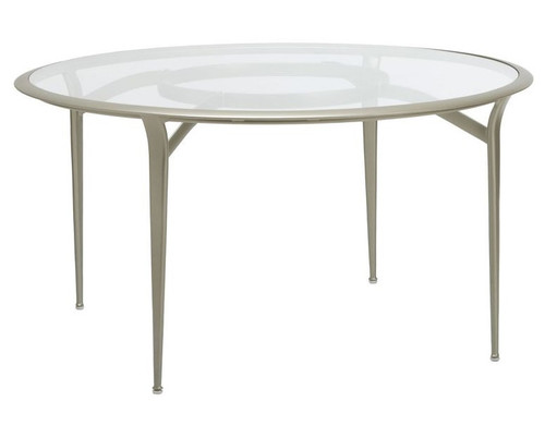 Brown Jordan Flight Round Glass Top Dining Table Into The - 54 inch glass top round dining table