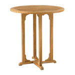 "Kingsley Bate Essex - 36"" Round Teak Outdoor Bar Table"
