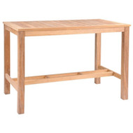 Kingsley Bate Wainscott Rectangular Teak Bar Table