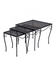 Woodard Mesh Nesting Tables (Set of 3)