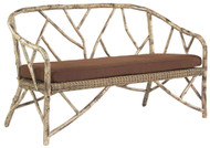 Woodard River Run Faux Bois Bench