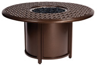 Woodard Casa Round Chat Height Fire Table