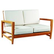 Kingsley Bate Amalfi Love Seat - Modern Teak Outdoor Love Seat