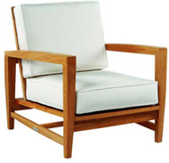 Kingsley Bate Amalfi Lounge Chair - Modern Teak Outdoor Lounge