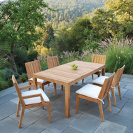 "Furniture Cover for Kingsley Bate Mendocino 72'-73"" Rectangular Dining Table with Four-Six Chairs"