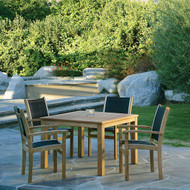 """Furniture Cover for Kingsley Bate (WS42) Wainscott 42"""" Square Dining Table with Four Chairs"""