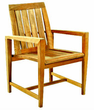 Kingsley Bate Amalfi Dining Chair - Modern Teak Outdoor Dining Chair