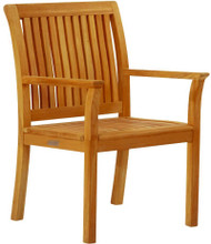 Kingsley Bate Chelsea Outdoor Teak Dining Arm Chair