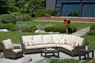 The photo is of a four piece sectional, adding an armless chair.