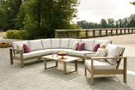 The photo is of a four piece sectional with an armless chair added
