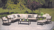 The sectional in the photo is a four piece sectional with an armless chair added