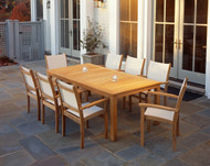 Kingsley Bate St. Tropez Nine Piece Dining Set