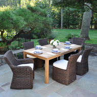 """Furniture Cover for Kingsley Bate Wainscott 85"""" Rectangular Table With 6-8 Chairs(WS85)"""