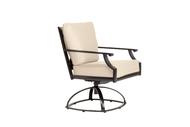 Brown Jordan Coast Cushion Swivel Rocking Dining Chair