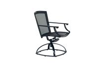 Brown Jordan Coast Parabolic Sling Swivel Rocking Dining Arm Chair
